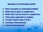 approach to constructing a proof