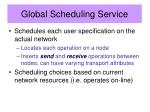 global scheduling service