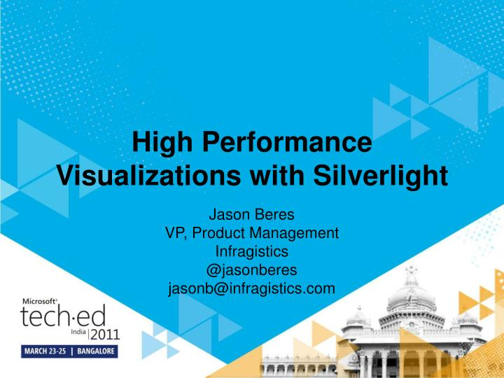 high performance visualizations with silverlight n.
