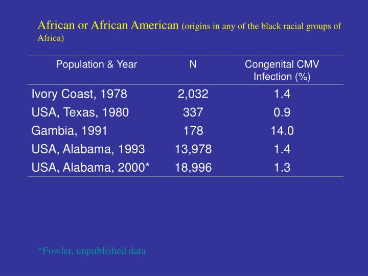 African or African American