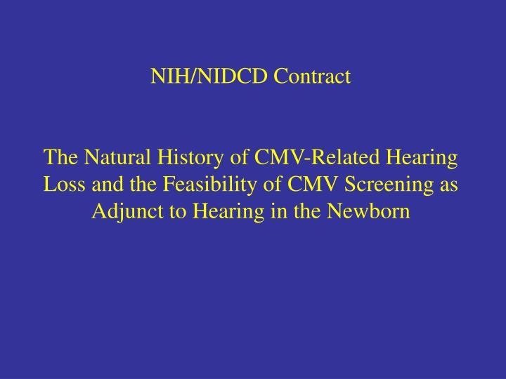 NIH/NIDCD Contract
