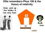 ollie remembers phys 100 the theory of relativity
