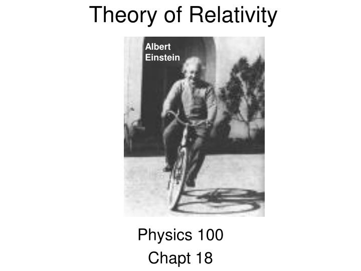 theory of relativity n.