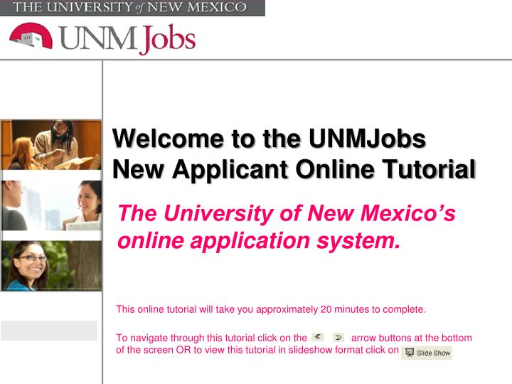 welcome to the unmjobs new applicant online tutorial n.