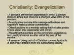 christianity evangelicalism
