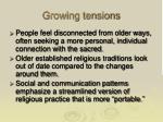 growing tensions
