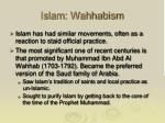 islam wahhabism