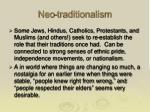 neo traditionalism