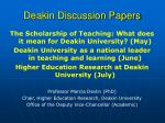 deakin discussion papers