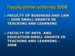 faculty primer schemes 2008
