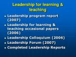 leadership for learning teaching