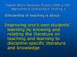 trigwell martin benjamin prosser 2000 p 159 approaches to scholarship in teaching 4