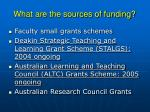 what are the sources of funding