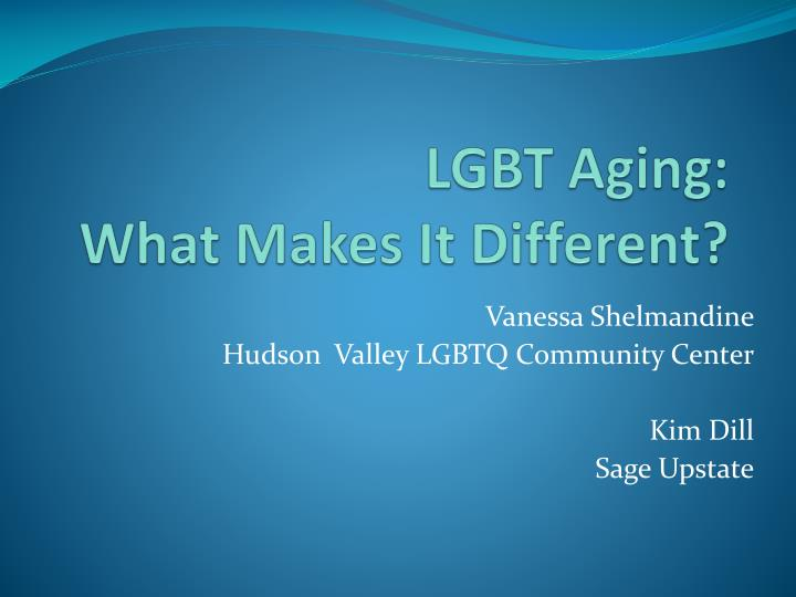 lgbt aging what makes it different n.