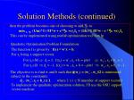 solution methods continued