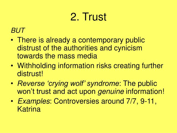 2. Trust