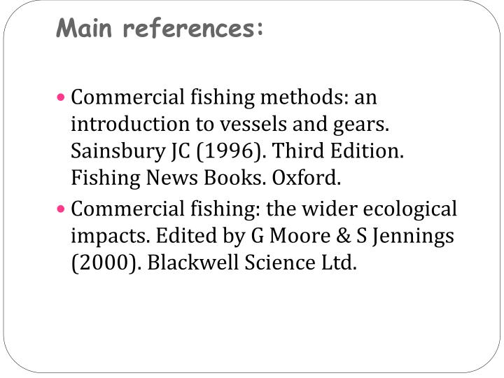 Main references: