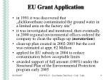 eu grant application