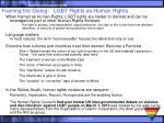 framing the dialog lgbt rights as human rights