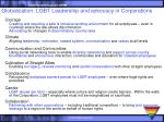 globalization lgbt leadership and advocacy in corporations