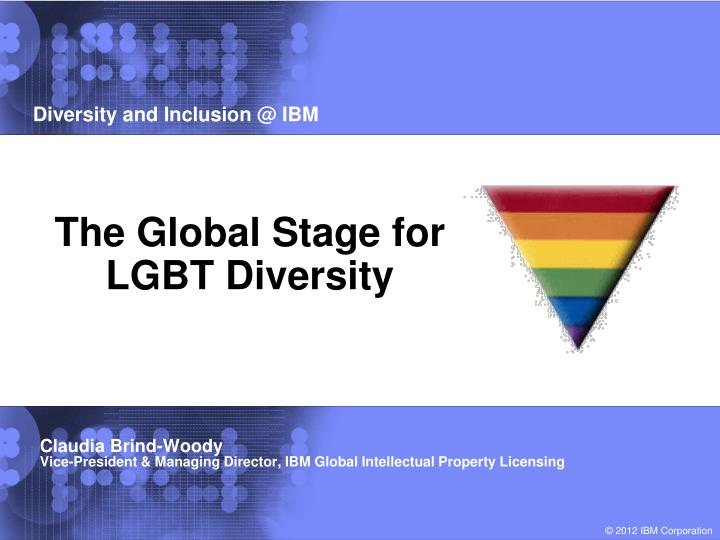 the global stage for lgbt diversity n.