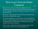 three layer network model continued