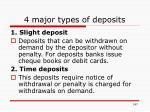 4 major types of deposits