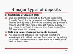 4 major types of deposits1