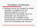 formation of attitudes1