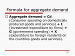 formula for aggregate demand
