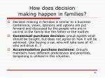 how does decision making happen in families