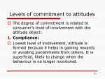 levels of commitment to attitudes