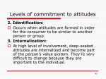levels of commitment to attitudes1
