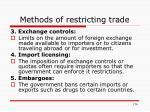 methods of restricting trade1