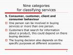nine categories for classifying services4