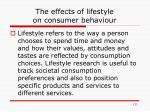 the effects of lifestyle on consumer behaviour