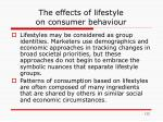 the effects of lifestyle on consumer behaviour1