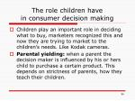the role children have in consumer decision making
