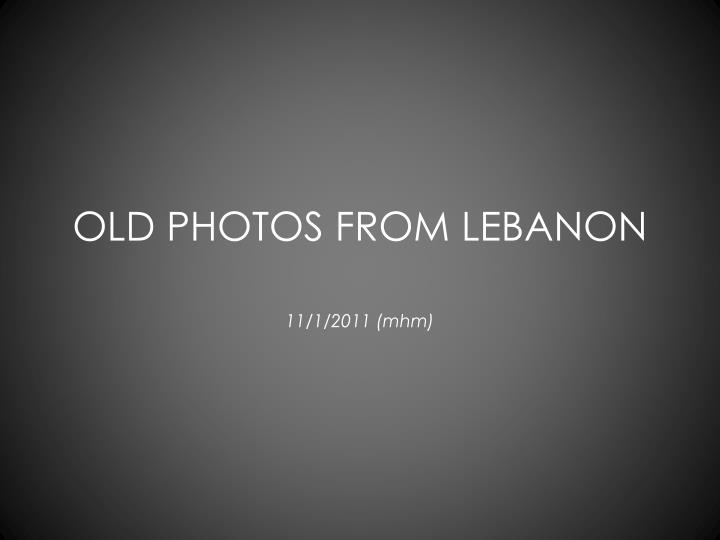 old photos from lebanon n.