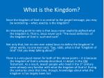 what is the kingdom