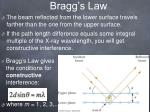 bragg s law