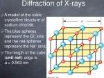 diffraction of x rays4