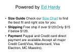powered by ed hardy