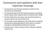 communism and capitalism with their important meanings