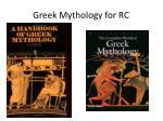 greek mythology for rc