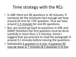 time strategy with the rcs