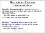 one way vs two way communication