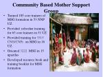community based mother support group