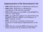 implementation of the international code