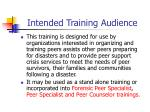 intended training audience